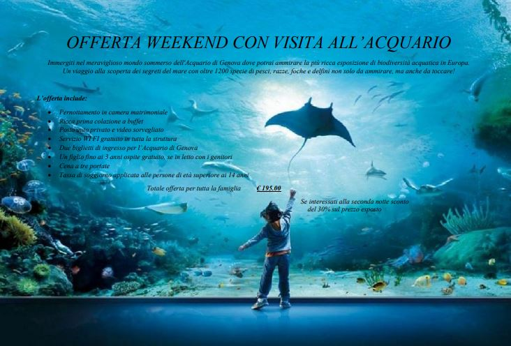 weekend con visita all'acquario